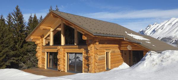chalet en bois construction
