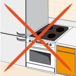 frigo loin d'une source de chaleur