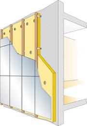 Principe isolation thermique mur
