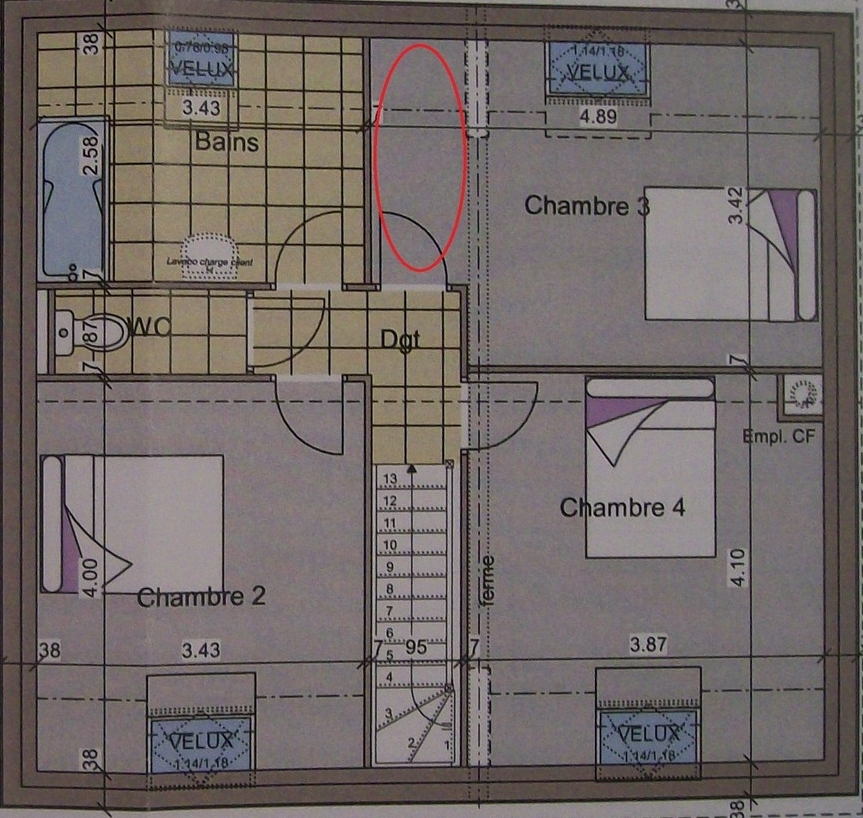 Dessiner des plans fonctionnels conseils thermiques for Plan de douche et toilette