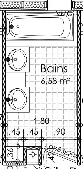 Dessiner des plans fonctionnels conseils thermiques for Plan de salle de bain en ligne