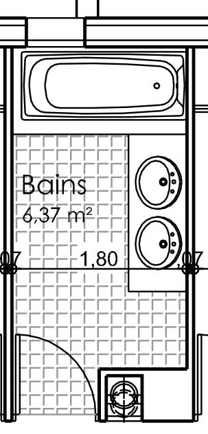 Dessiner des plans fonctionnels conseils thermiques for Dessiner sa salle de bain