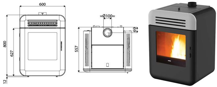 petits po les granul s dimensions et puissance mini. Black Bedroom Furniture Sets. Home Design Ideas