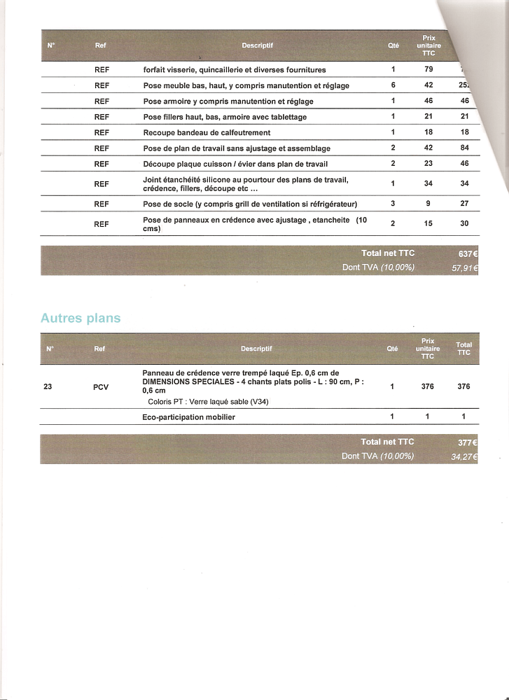 prix d'une cuisine mobalpa - conseils thermiques - Exemple Devis Cuisine Equipee