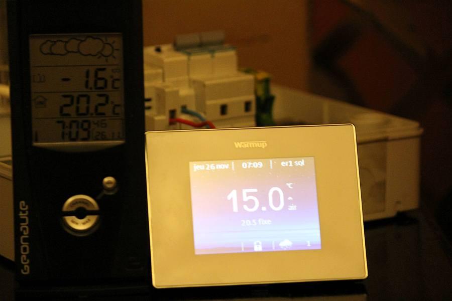 Warmup 4iE contr/ôleur WiFi Noir Onyx