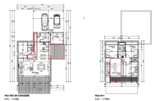 plan maison bioclimatique a etage